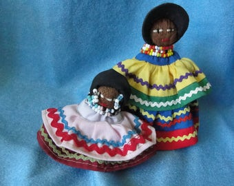 Vintage Miccosukee Indian dolls from Florida 1980s