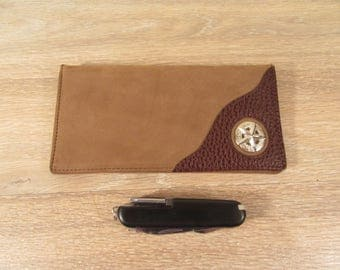 Stetson full grain leather wallet with multitool