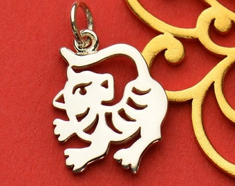 The Tiger Necklace - Solid 925 Sterling Silver Chinese Zodiac Year of the Tiger Charm - Insurance Included