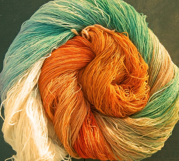 Yarn Cobweb Lace Merino Silk Cashmere Elvincrafts Imbolc Spring Dreams