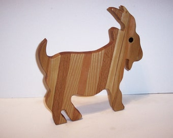 GOAT Cutting Board or Cheese Board Handcrafted from Mixed Hardwoods