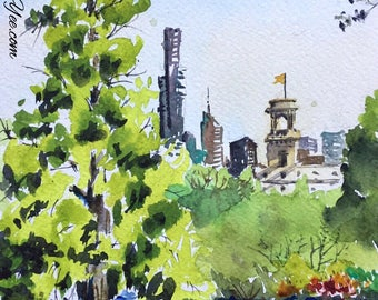 Botanic gardens in watercolour / original painting