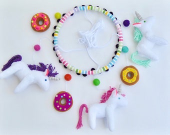 Unicorn and Donut Baby Mobile