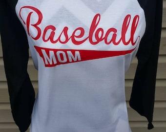 Baseball Mom shirts, baseball mom tee, baseball mom tank, baseball mom t-shirts, baseball mom, raglan tee, tball mom, baseball mom iron on