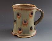 Woodfired Blue Gray Dot Mug/Cup