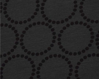 200814 black grey dot circles knit fabric Andover USA