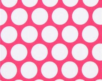 213221 hot pink Robert Kaufman white dot fabric Spot On Studio RK