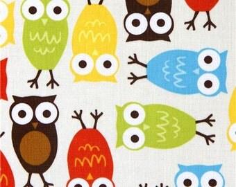 165985 Robert Kaufman premium laminate fabric colourful owls