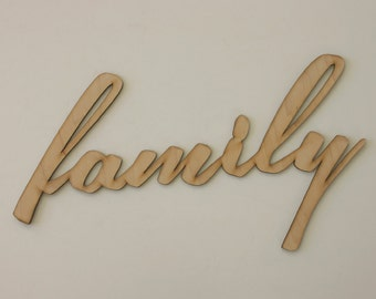 Family Sign Engraved Wood Sign Wedding Gift House Warming Gift