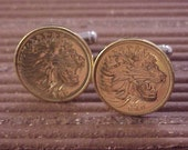 Ethiopia Coin Cuff Links