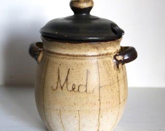Vintage Ceramic Honey Pot