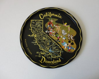 VINTAGE california disneyland TRAY for cocktails or wall hanging