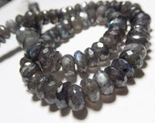 Blue Labradorite  Gemstone. Semi Precious Gemstone Bead. Faceted Labradorite Rondelle, Natural Gemstone. Large 10mm Strand Your Choice (bsp)