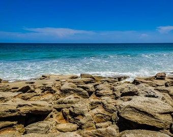 Washington Oaks Gardens State Park Fine Art Print - Travel, Scenic, Landscape, Beach, Ocean, Florida, Rocks, Nature, Home Decor, Zen