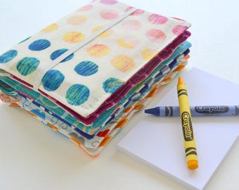 Crayon Wallets . Buy 2 Get 1 FREE . 8 Crayons & Notepad Included . Birthday Party Favors . Wedding Favors . Birthday Gift for Children