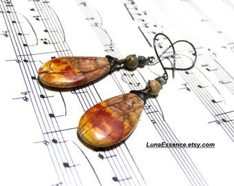Red Creek Picasso Jasper Earrings Bohemian Jewelry for Women Gifts for Women