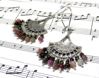 Tourmaline Bohemian Chandelier Earrings