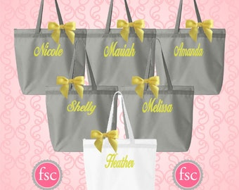 NEW! Bridal party tote bags , monogrammed tote bags , personalized tote bags , bridesmaid tote bags , wedding party tote bag