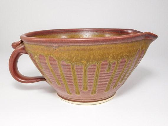 Batter Bowl - Large Gravy Boat Pottery - Ceramic Mixing Bowl - Bowl Batter - Gravy Boat - Handmade Mixing Bowl - Gravy Boat Ceramic -InStock