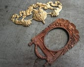 Pair of Huge Vintage Findings Versailles Lions Art Nouveau Frame Stunning