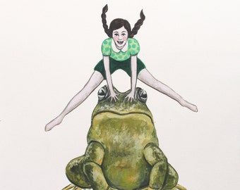 Leap Frog - Fine Art Print of Original Painting