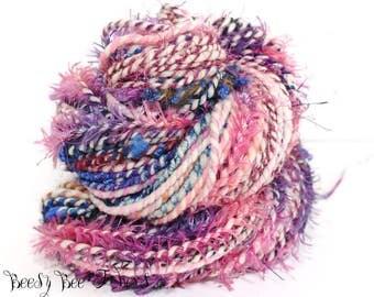 FUZZY CUPID - Handspun Two Ply yarn, knitting, crocheting, weaving hand made yarn - 180 yards