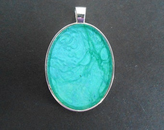 Teal Pendant - Large