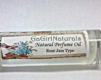 Rose Jam TYPE Natural Perfume, Perfume Oil, Perfume Roll On