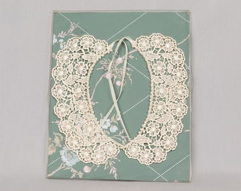 Vintage White Lace Collar in Pristine Condition 14.25 inches at neck Edge, New in the box,