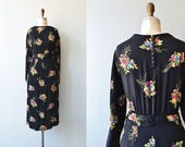 Forget Me Not dress | vintage 1940s dress | floral print 40s dress