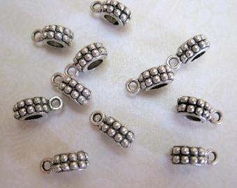 Tibetan Silver Bail - Set of 10 - 13x6mm