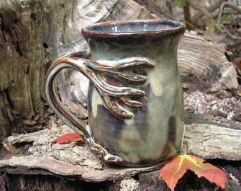 Tree  mug for the nature lover, 16 oz. capacity,  tea mug , coffee mug, handmade mug, favorite mug