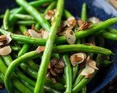 Organic Tenderette Green Beans Bush Bean Heirloom Vegetable Seeds