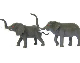 Plastic Elephants Animals children toys Shelf Display Room Decor Gray Zoo Animals Aquarium Terrarium