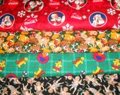 CHRISTMAS #8 Fabrics, Sold INDIVIDUALLY not as a group, by the Half Yard