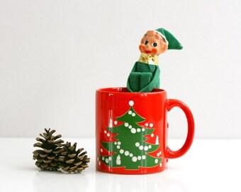 Waechtersbach West Germany Christmas Tree Mug / Waechtersbach Christmas Mug / Holiday Coffee Mug