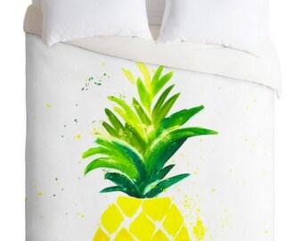 Pineapple Sunshine Duvet Cover