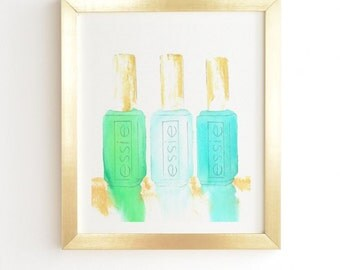 Essie In Blue Framed Wall Art