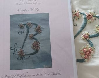 Monogram Letter 'B'. Embroidery Kit