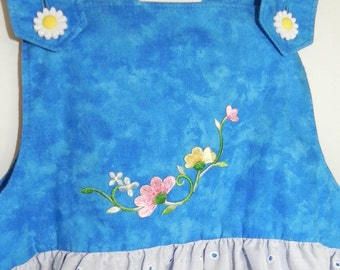 Toddler blue and white jumper, size 4T