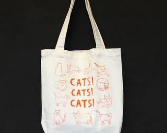 Tote Bag - Cats! Cats! Cats!