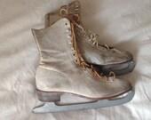 Old Vintage Ice Skates, Very Worn