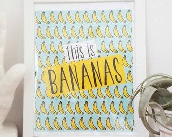 this is bananas printable original art