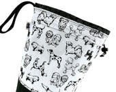 Medium Project Bag Knitting Crochet Drawstring -  Beautiful Breeds