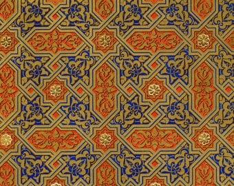 Antique Owen Jones Print - Moresque No. 4 - Plate 42 - Rare 1865 Design Chromolithograph - Grammar of Ornament