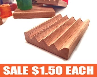 36 Spanish cedar Boardwalk style soap dishes - 1.50 each - natural unfinished wood