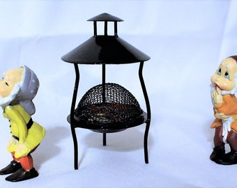 SALE:1 Gnome and 1 fire-pit-Miniature fairy garden gnomes-2 assorted styles to choose from