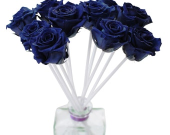 Blue Rose Reed Diffuser in Clear Rio Vase by MelroseFields