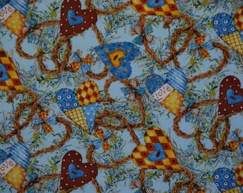 Patchwork Hearts Holly Hobbie 2009 Quilting Treasures Print