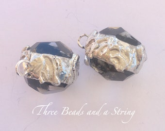Soldered faceted clear Crystal Charms